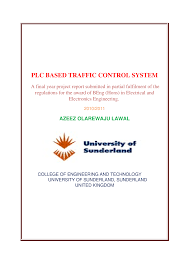 plc based traffic control system report documents