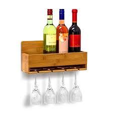 appendi bicchieri bar relaxdays scaffale portabottiglie vino con porta bicchieri