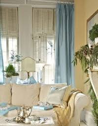 curtains living room for blue wall house decor picture