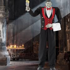 halloween 6ft 11 211cm animated butler of macabre manor with