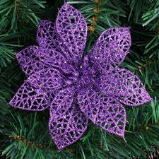 wholesale purple glitter christmas tree ornaments artificial