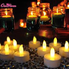 aliexpress com buy ourwarm 50pcs mini led candles small flashing