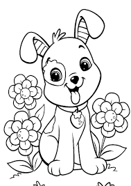 cute puppy coloring page free download