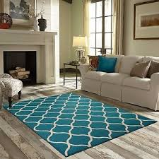 new area rug teal turquoise white accent carpet floor mat modern