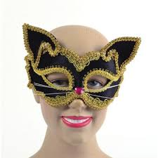 cat masquerade mask black and gold cat masquerade mask em704