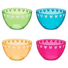 plastic bowl set color fusion mickey mouse 4 pc