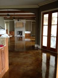 Concrete Kitchen Floor by Interior Acid Stained Flooring Traditional Kitchen New