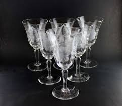 Wine Goblets Corn Flower Crystal Water Goblets Or Red Wine 6 U2013 With A Past