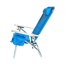 Rio 5 Position Backpack Chair Extra Large High Seat Heavy Duty 4 Position Beach Chair W Drink