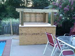 Patio Made Out Of Pallets by How To Build An Outdoor Tiki Bar Outdoor Designs Excellent
