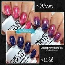 lechat perfect match mood gel polish starry night soak off gel