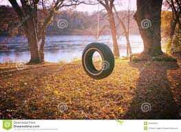 tire swing in autumn stock photo image 53469394