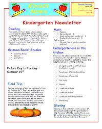 5 kindergarten newsletter template assistant cover letter