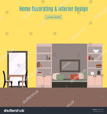 home interior interior design living room stock vector 424571398 home interior interior design of a living room for web site print poster