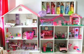 diy barbie house using a bookshelf and cube shelf from target