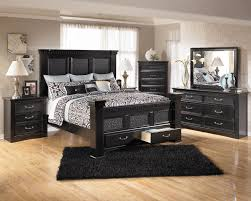 Queen Beds With Storage Ashley Furniture Cavallino Bedroom Set With Mansion Poster Bed