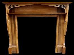 wooden arts and crafts edwardian surround in wood arts crafts pine surround