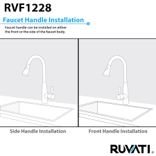 ruvati rvf1228k1st pullout spray kitchen faucet with soap