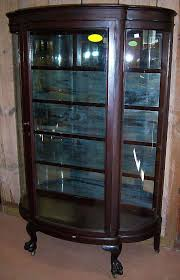antique curio cabinet with curved glass antique curved glass curio cabinet antique curio cabinet antique