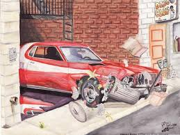 The Car In Starsky And Hutch Starsky And Hutch Car Chase By Fastlaneillustration On Deviantart