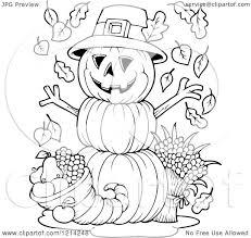 thanksgiving cornucopia clipart clipart of an outlined thanksgiving pumpkin man with a cornucopia