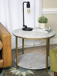 grey washed double circle table project by decoart