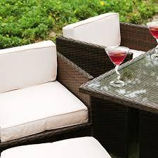 6 Seat Patio Dining Set - richmond verano cube 6 brown rattan garden dining set leader stores