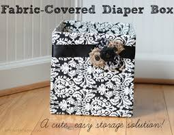 fabric covered diaper box cute easy storage erin spain