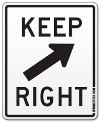 right meaning keep right regulatory road signs