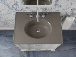 Kohler Bathroom Sink Colors - k 2796 8 ceramic impressions 31 inch oval vanity top bathroom