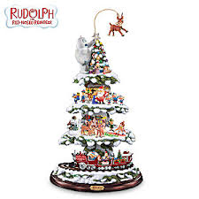 rudolphs town express tabletop tree