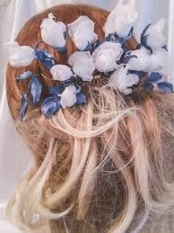 beautiful hair pins roses hair pins wedding silk flowers wedding hair comb white