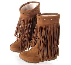 s boots with fringe wholesale miss c s fringe boots 2 layer tassel knee high low