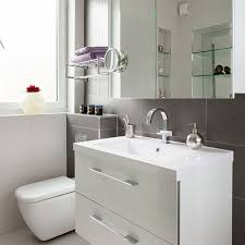 Backsplash Bathroom Ideas by Bathroom Ideas With White Wooden Bath Vanity Attached On Grey