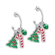 images of christmas earrings holiday hoops charm earrings willabee ward