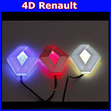 renault logo auto renault 4d logo light led cold light logo bulb decoration