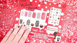 how to create minnie mouse nail art disney video