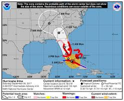 Map Of Gulf Coast Florida by Hurricane Irma Path And Forecast For Florida Miami Herald