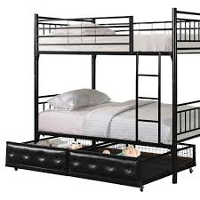 Metal Bunk Bed Frame Metal Bunk Bed With Drawers Industries Home Source Target