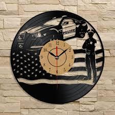 Best Wall Clock Best Gift Police Law Enforcement Wall Clocks Vinyl Record U2013 Gad Gears