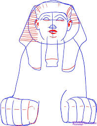 how to draw an egyptian sphinx step by step sphinx mythical