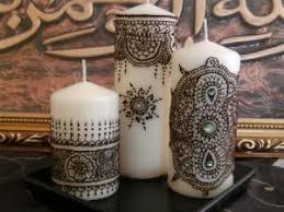 bougie hennã mariage bougies décorés au hénné par hamanour