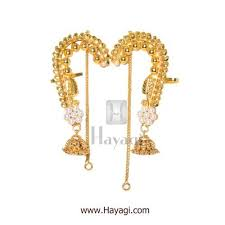 ear cuffs online traditional mhalsa ear cuffs jhumki in gold finish online hayagi