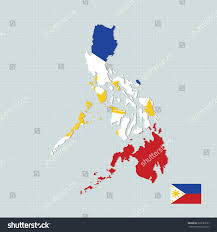 Filipino Flag Colors Philippines Flag Map Stock Vector 339183101 Shutterstock