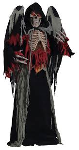 Large Halloween Costumes Winged Reaper Costume Large Halloween Costumes Adults