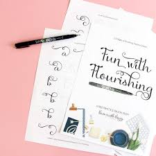 10 free hand lettering practice worksheets dawn nicole designs