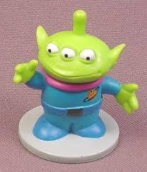 disney toy story 3 eyed green alien pvc figure base 2