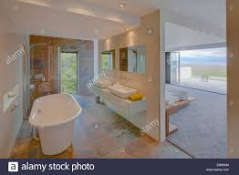 En Suite Bathrooms by Modern Ensuite Bathroom Separated From Bedroom By Partition Wall