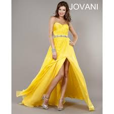 girls long ruched strapless sweetheart a line yellow empire