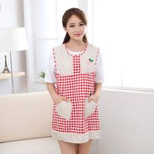 blouse de cuisine femme sleeveless cotton embroidery gird lovely aprons for